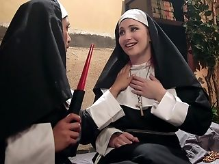 Nuns Mia Little And Sophia Locke Love To Sin With A Large Fake Penis