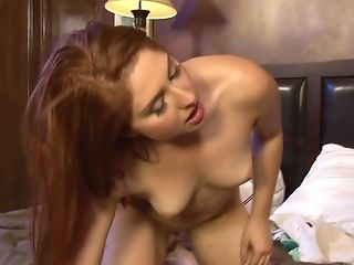 Red-haired Teenager Rose Crimson Gets Her Asshole Gaped By A Big Pink Cigar