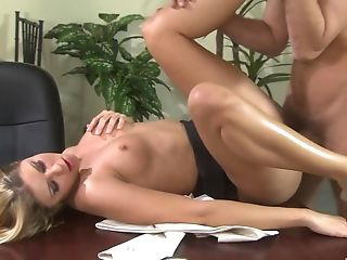 Sultry Fucking On The Office Table With Assistant Monica Sweetheart