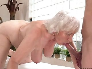 Wild Granny Norma Gets Her Hairy Coochie Banged By A Pervy Dude