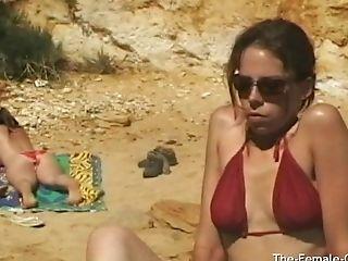 Public Beach Getting Off And Pulsing Orgasm
