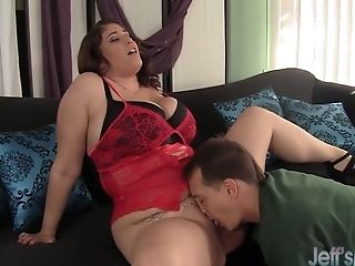Big Funbag Plus-size Angel Deluca Fucks A Boy With Her Tits And Cooch
