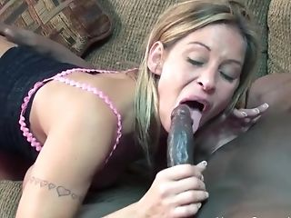 Milky Jizz Cockslut Wants This Big Black Dong In Her Mouth