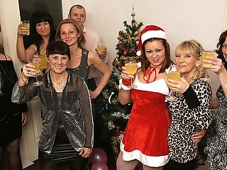 Old And Youthful Christmas Soiree Goes Wild