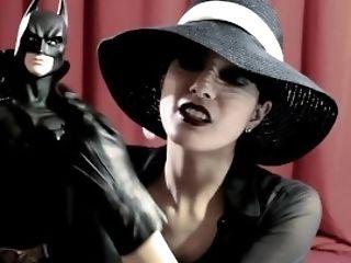 Elegant Gothic Stylish Lady Hat And Ultra Lean Soft Leather Gloves
