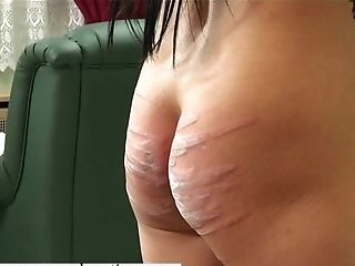 Skinny Dark-haired Gal Gets Her Bootie Penalized By A Nasty Mistress