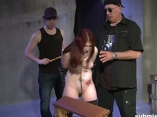 Xxx Spanking And Molestation Session For A Red-haired Inked Teenager Honey