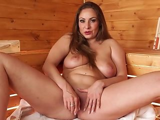 All Alone Lengthy Haired Beauty Sophia Delane Is Blessed To Masturbate Herself