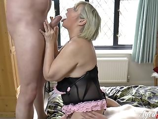 Unique Movie Where Huge-titted Matures Lady Is Fucked Hard By Two Guys At Once