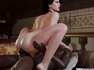 Brown-haired Honey With Stunning Round Donk And Brilliant Tits Gets Missionary Orgy From Lengthy Strong Big Black Cock