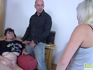 Horny Matures Woman Luving Sexual Attention Of Teenager Duo