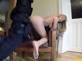 Wild Fucking On The Stool Inbetween A Faux Cop And Penelope Ferre