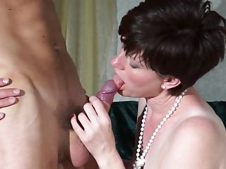 Matures Brief Haired Cougar Olivia G. Makes A Hump Gauze With Her Hubby