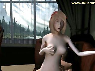 Naruto Fucks A Nasty Tramp  With Big Tits On A Sofa At His Home