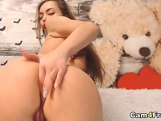 Gorgeous Sexy Honey As She Fuck Her Muff And Butt Fuck Hole