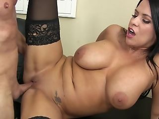 Lacie James Is A Gorgeous Black-haired In Need Of A Hump Session