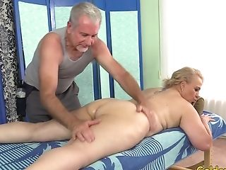 Old Massagist Fumbles Thick Matures Bi-atch Summer With Thumbs And Fucktoys