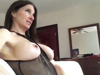 Cougar Takes A Flow On Her Chest
