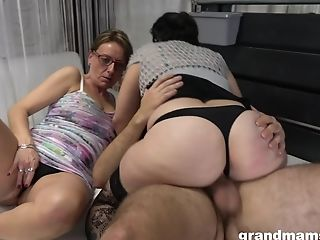 Nasty Matures Supersluts Battle Over One Junior Dick And Want More